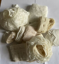 Job Lot Of Vintage Cream Cotton And Nylon Trimming Over 40 Mtrs Total Length
