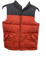 Gap Kids Medium Puff Vest Full Front Zip, side pockets Red and Gray Unisex