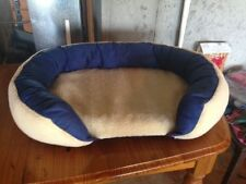 Dog Bed / Cat Bed / Pet Bed - Beds 4 Pets - Bolster Bed - 34x23x7.5 - Blue - NEW