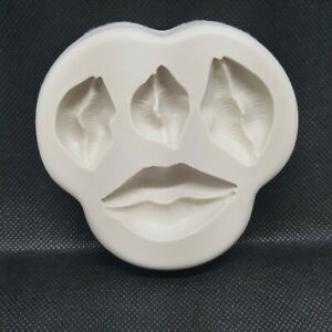 Silicone Lips Kisses Candy Décor Mold Fondant Candy Chocolate DIY Baking Mold.