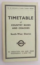 London Booklet Public Timetables Collectables