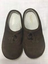 Girls Willits Brown Leather Clog Mule Shoes Size 12