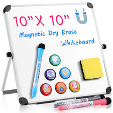 New listing Homemaxs Magnetic Whiteboard 10x10 inch Dry Erase White Board Wall Hanging Board