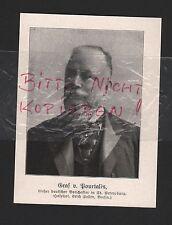 1914 Portrait Graf v. Pourtalès deutscher Botschafter in ST. PETERSBURG WWI