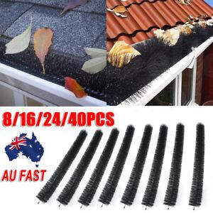 Hedgehog Gutter Brush Guard Rooftop Protector Filter Clean Leaf Twigs 100mm Long