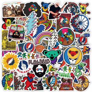 MUSIC STICKERS 50 HIPPY PSYCHEDELIC PEACE ANIMALS EQUALITY HIPPIE GRATEFUL DEAD