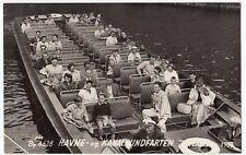 Dutch Canal Excursion Boat Party 1956 RP PPC, Unposted, Social History Interest