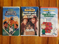 (Lot3) Disney Peanuts Classic Angel Apple Dump Charlie Brown VHS RARE HTF OOP