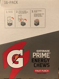 2(16packs Of 6)Gatorade Prime Energy Chews, Fruit Punch Best Buy 11/2020