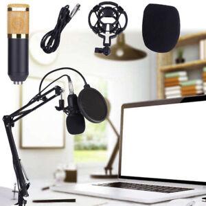 Profi. -800 USB Mikrofonset Kondensatormikrofon Mikrofonarm Mikrofonständer DE