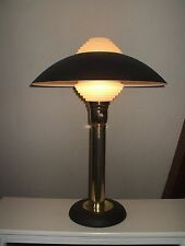 Mid Century Modern Henningsen Style Table Lamp With Architectural Lens #1