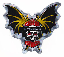 Skull & Raised Bat Wings Yamaha Metallic Foil Sticker Motorcycles