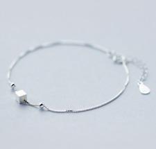 925 Sterlingsilber Damen Armband Armbänder Silber Cube Würfel Kugel Filigran NEU