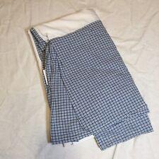 Twin Sized Bed Skirt Laura Ashley Lifestyle Blue White Plaid Homespun Cotton
