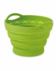 ROUND COLLAPSIBLE SILICONE FOLDING COLANDER STEAMER, BUY 1 GET 1 FREE!