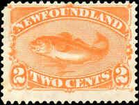 Mint NG Canada 1880-1896 Newfoundland 2c F+ Scott #48 Stamp
