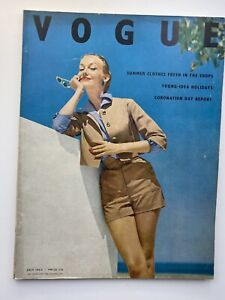 VOGUE Magazine 1953 July  LEE MILLER feature Coronation report FAST DISPATCH
