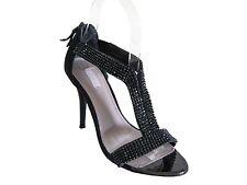 Black GLINT rhinestone heels Size 6M