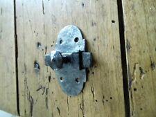 Ancien verrou en fer forgé,ferrure targette serrure penture clenche