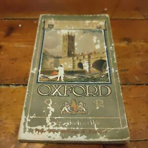Vintage Cloth Ordnance Survey Map Of Oxford