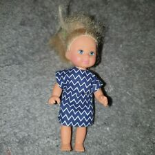 Handmade Blue Zigzag patterned. To Fit Barbie's liltle sister Shelly