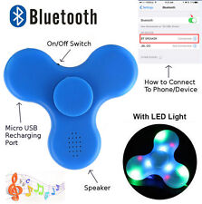 Fidget Hand Spinner and Bluetooth Speaker 2-in-1 LED Light 2017 Upgrade NEWEST
