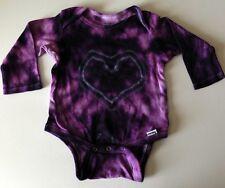 Purple Tie-Dye Heart L/S Cotton Onesie 18 Months Handmade in Alaska