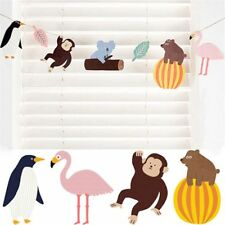 Rain Forest Jungle Animals Wall Decoration Decor Colored Flags Bunting Garland A
