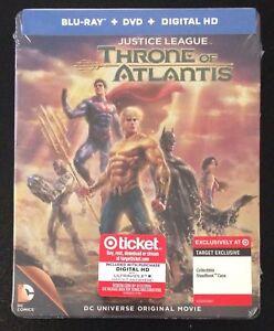 NEW Justice League Throne of Atlantis (2015) Blue-ray Target RARE Steelbook