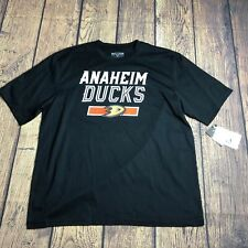 Level Wear Adult Large Anaheim Ducks Perry NHL Short Sleeve Tee Shirt Black New
