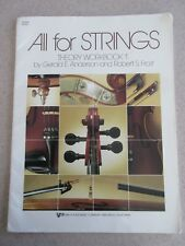 All for Strings Theory Workbook 1 by Anderson & Frost Violin Practice Book
