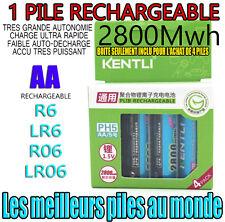 1 PILE ACCU RECHARGEABLE AA 2800Mwh LITHIUM Li-ion 1.5V KENTLI R6 R06 LR06 LR6