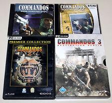 3 PC SPIELE SAMMLUNG - COMMANDOS 1 2 3 AUFTRAG EHRE LINIEN MEN OF COURAGE BERLIN