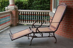 """Marks A.F. Chair Co. New York Pat """"1876"""" Campaign Chair/ Lounge Chair"""