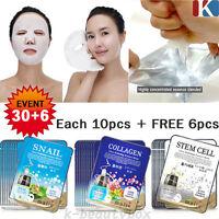 36PCS Anti-Aging Face Mask Sheet Moisture Essence Facial Pack Korean Cosmetics