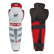 "New Ccm U+ 04 Ice Hockey Junior 12"" size shin guards white/black/red knee pads"