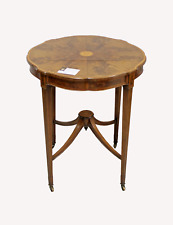 A VERY FINE QUALITY MAHOGANY AND SATINWOOD BANDING OCCASIONAL TABLE