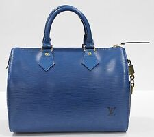 Pre Loved Louis Vuitton LV Bag Speedy 25 Epi Blue 916