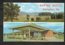 Alpine Motel, Abingdon ,Virginia. Vintage Postcard.
