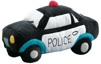 Hiccups For Kids Black Police Car Novelty Cushion | Police Car to the rescue!