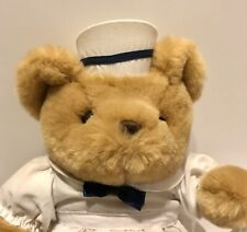 "11"" Vintage Jerry Elsner Nurse  Brown Plush Teddy Bear Stuffed Animal"