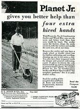 1931 SL Allen & Co Planet Jr No. 25 Combination Seeder & Wheel Hoe Print Ad