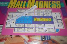 VINTAGE 1989 MALL MADNESS SHOPPING MALL BOARD GAME REPLACEMENT PART BLUE CARD