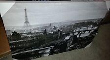 """Paris France Eiffel Tower River Seine 24"""" x 36"""" Canvas Wall Art Wall Decor"""