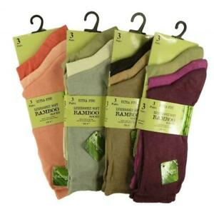 Assorted Colours Multipack Ladies Luxury Bamboo Super Soft Extra Fine Socks