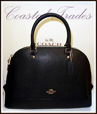 Coach Leather Large Sierra Satchel Handbag Bag Crossbody BLACK #57524 NWT $395