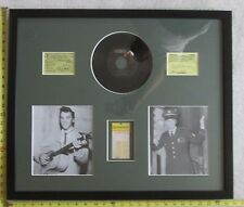 Framed Elvis Presley Concert Ticket, 2 Photos, & Record, Great Condition