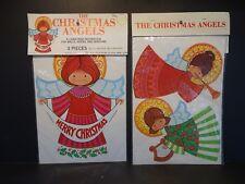 "3 Piece Set Of Vtg Paper ""Christmas Angels"""