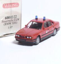 Wiking 600 03 22 BMW 520i ELW Feuerwehr München Flughafen , OVP, 1:87, B108
