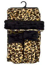 Girl's (10-16 Years Old) Fleece Jaguar Print with Fur Trim Winter Set